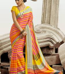 Buy Light Pink & Yellow Georgette Saree georgette-saree online