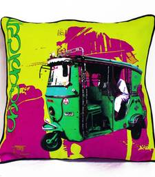 Buy Green Taxi Cushion Cover pillow-cover online
