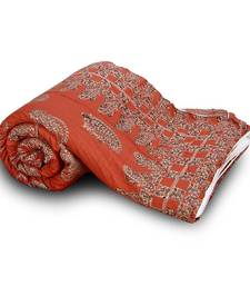 Buy Beautiful Red Paisley Pure Cotton Double Bed Quilt quilt online