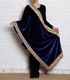 Buy Dark Blue Semi Velvet Shawl other-apparel online