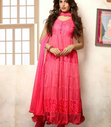 Buy Party Wear Designer Peach Anarkali Suit anarkali-salwar-kameez online