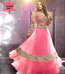Buy Sangeeta Ghosh Light Pink Long Anarkali suit anarkali-salwar-kameez online