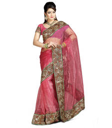 Buy Beautiful Embroidered Tissue Stunning Red Color saree tissue-saree online