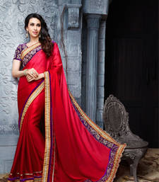 Buy Maroon embroidered chiffon saree with blouse heavy-work-saree online