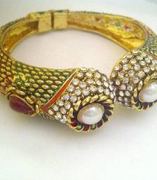Unique Meenakari Kada Bangles with Big Pearls by ADIVA ABJAY0BBE009 shop online