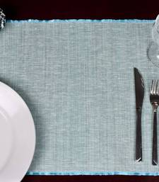Buy Premium Talipot Table mats - Blue - set of six table-mats-and-runner online