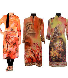 Buy Digital Print Kurti Fabric Combo other-apparel online