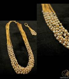 Buy Alankruthi 8 Line Pearl Necklace Set 2 necklace-set online