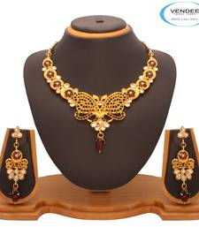 Buy Vendee  Fashion Attractive Remakable Kundan Nacklace Set (7207)  necklace-set online